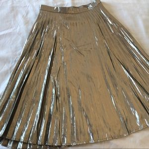 Gap Metallic Midi Skirt